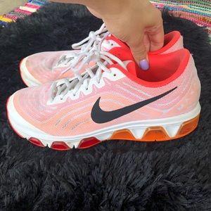 Nike max air waffle skin orange and pink sneakers